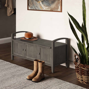 Farmhouse Grey | Warm Shaker 44 inch Entryway Bench