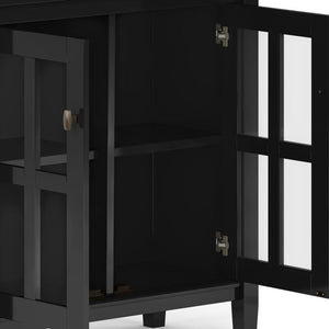 Black | Warm Shaker 32 inch Low Storage Cabinet