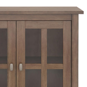 Rustic Natural Aged Brown | Warm Shaker 32 inch Low Storage Cabinet