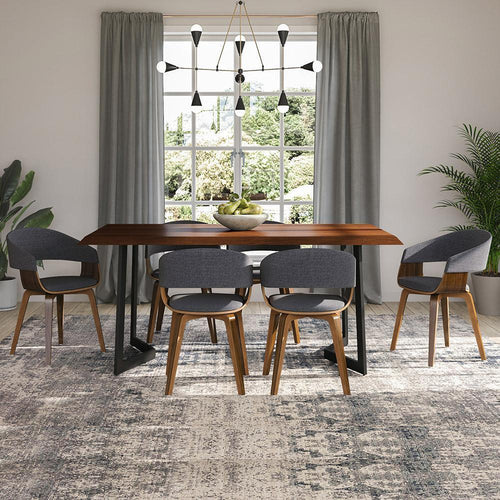 Watkins Dining Table with Inverted Metal Base