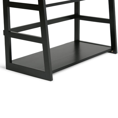 Black | Acadian Ladder Shelf Bookcase