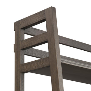 Farmhouse Grey | Acadian Ladder Shelf Bookcase