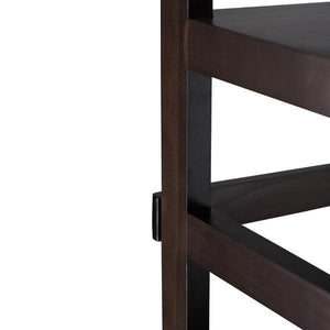 Brunette Brown | Acadian Ladder Shelf Bookcase