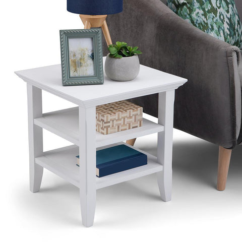 White | Acadian End Side Table