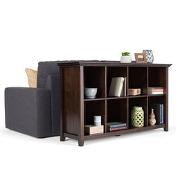 Brunette Brown | Acadian 8 Cube Storage / Sofa Table