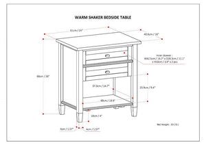 Warm Shaker Bedside Table