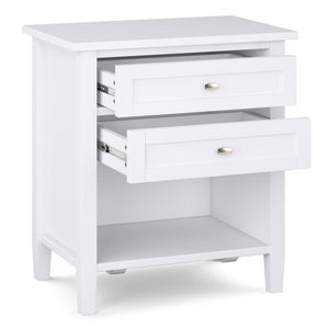 White | Warm Shaker Bedside Table