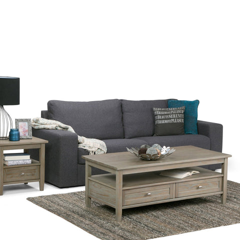 Distressed Grey | Warm Shaker 48 inch Coffee Table