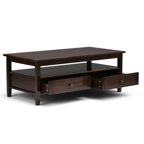 Tobacco Brown | Warm Shaker 48 inch Coffee Table