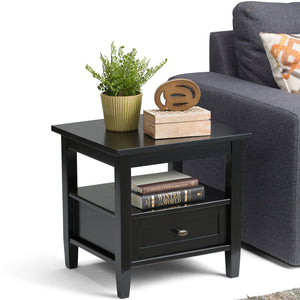 Warm Shaker 20 inch End Side Table