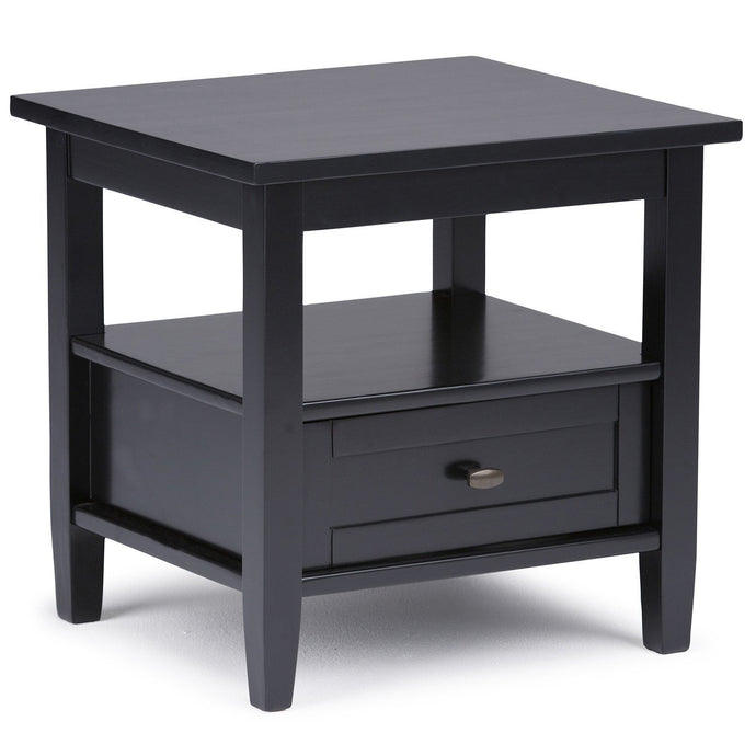 Black | Warm Shaker 20 inch End Side Table