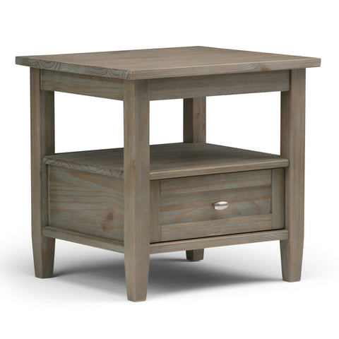 Distressed Grey | Warm Shaker 20 inch End Side Table