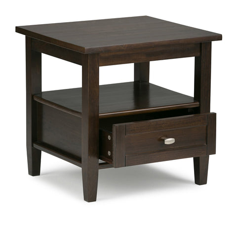 Tobacco Brown | Warm Shaker 20 inch End Side Table
