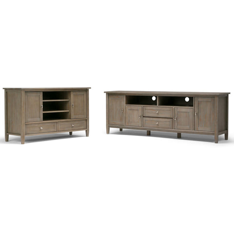 Distressed Grey | Warm Shaker 72 inch TV Stand