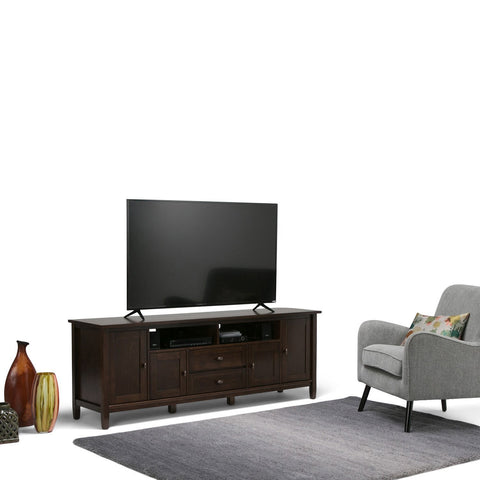 Tobacco Brown | Warm Shaker 72 inch TV Stand
