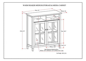 Warm Shaker 39 inch Medium Storage & Media Cabinet