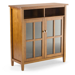 Light Golden Brown | Warm Shaker 39 inch Medium Storage & Media Cabinet