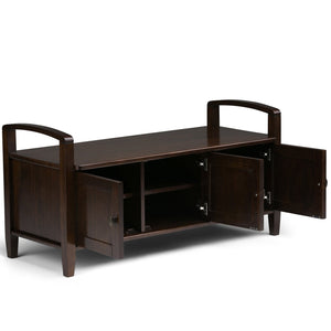 Tobacco Brown | Warm Shaker 44 inch Entryway Bench