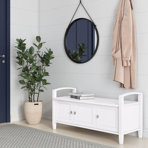 White | Warm Shaker 44 inch Entryway Bench