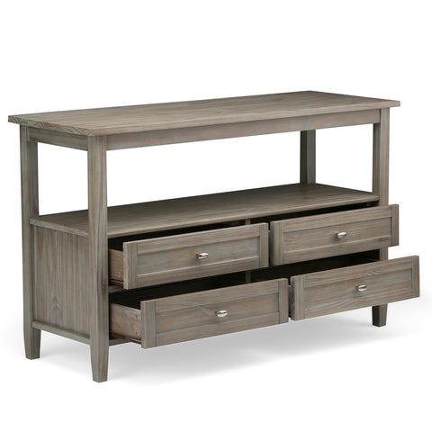 Distressed Grey | Warm Shaker 48 inch Console Sofa Table