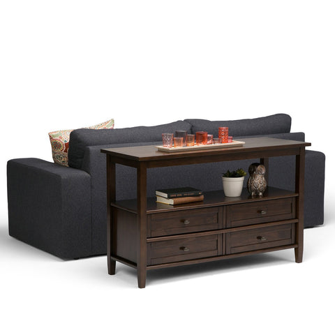 Tobacco Brown | Warm Shaker 48 inch Console Sofa Table