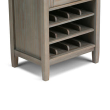 Load image into Gallery viewer, Distressed Grey | Warm Shaker 22.5 x 50 inch High Storage Wine Rack