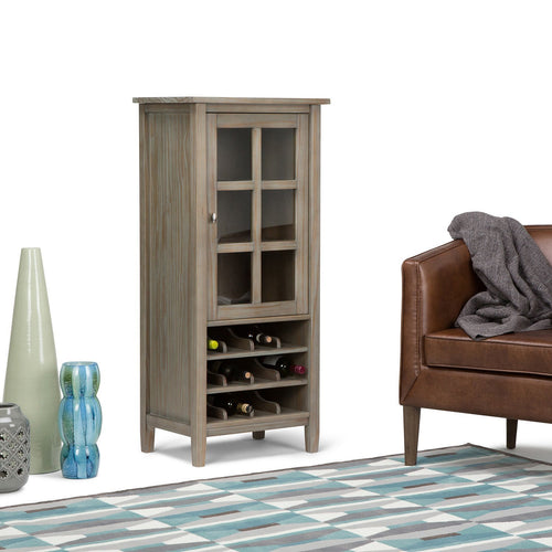 Distressed Grey | Warm Shaker 22.5 x 50 inch High Storage Wine Rack
