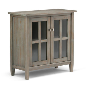 Distressed Grey | Warm Shaker 32 inch Low Storage Cabinet