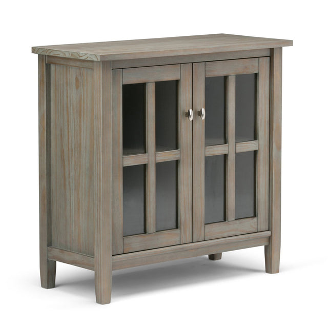 Load image into Gallery viewer, Distressed Grey | Warm Shaker 32 inch Low Storage Cabinet
