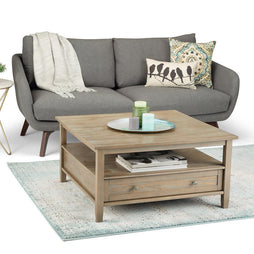 Distressed Grey | Warm Shaker Square Coffee Table