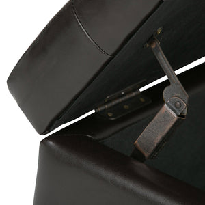 Cosmopolitan Faux Leather Storage Ottoman