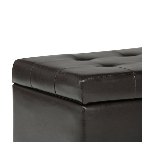 Tanners Brown | Cosmopolitan Faux Leather Storage Ottoman
