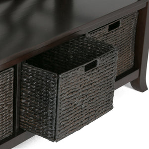 Espresso Brown | Adrien Entryway Bench