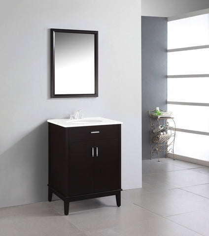 Dark Espresso Brown | Urban Loft 24 inch Bath Vanity