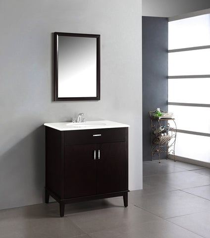 Dark Espresso Brown | Urban Loft 30 inch Bath Vanity