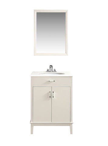 Soft White | Urban Loft 24 inch Bath Vanity