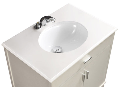 Soft White | Urban Loft 30 inch Bath Vanity
