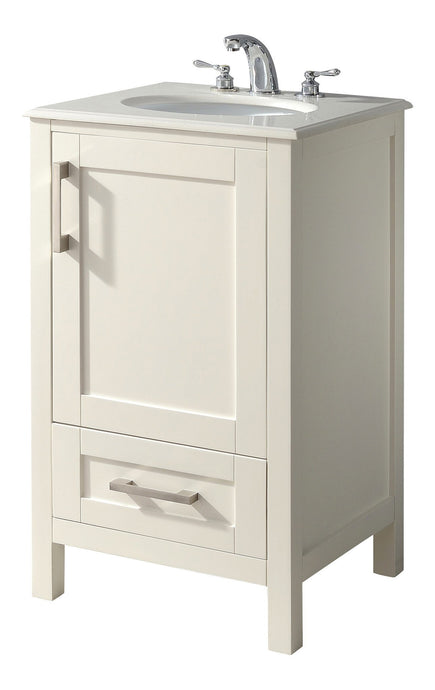 20 inch | Westbridge Soft White Bath Vanity