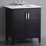 "Winston 30"" Bath Vanity with White Quartz Marble Top"