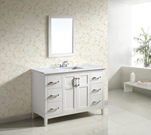 "Load image into Gallery viewer, Soft White | Winston 48"" Bath Vanity with White Quartz Marble Top"