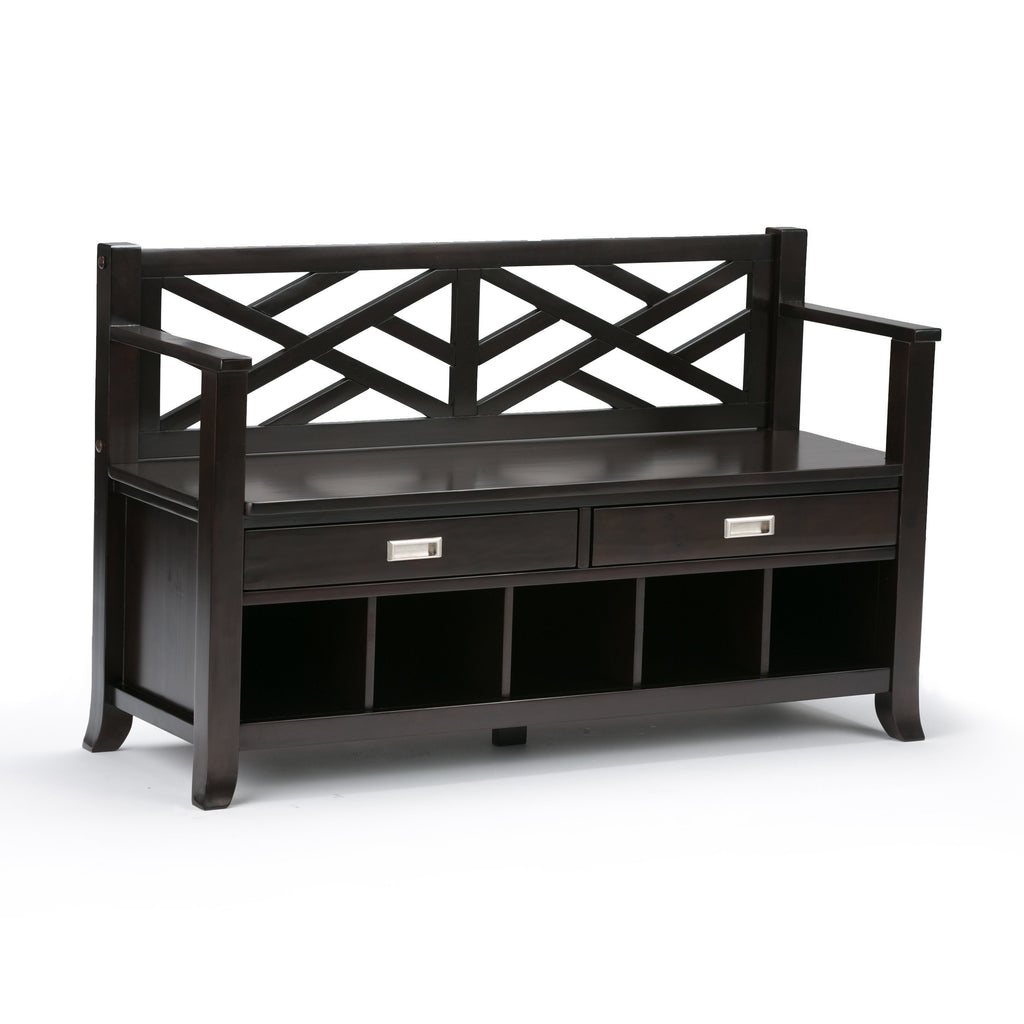 Astonishing Sea Mills Entryway Storage Bench With Drawers Cubbies Caraccident5 Cool Chair Designs And Ideas Caraccident5Info