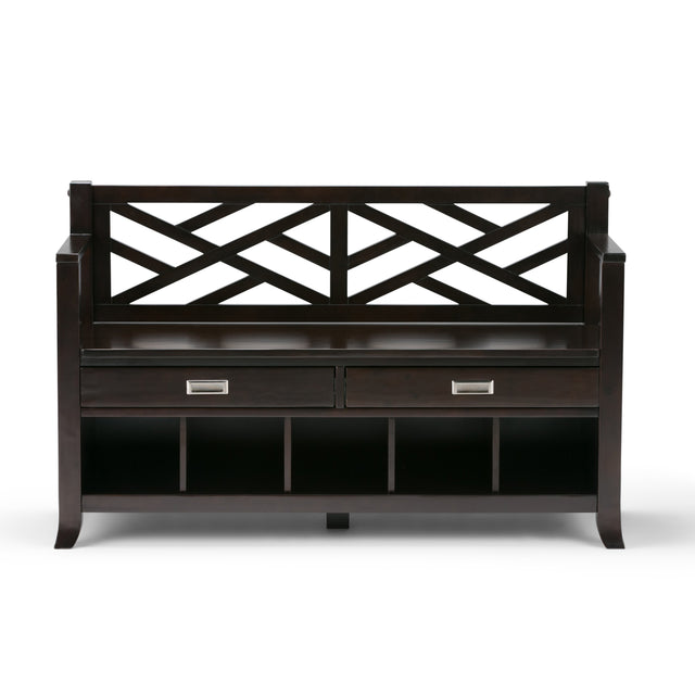 Load image into Gallery viewer, Espresso Brown | Sea Mills Entryway Bench