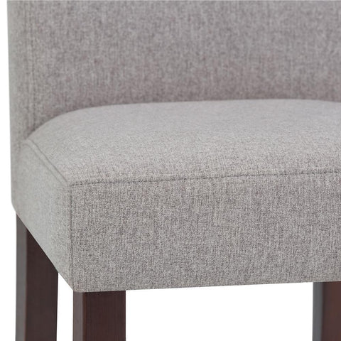 Cloud Grey Linen Look Polyester Fabric | Acadian Linen Look Fabric Parson Dining Chair (Set of 2)
