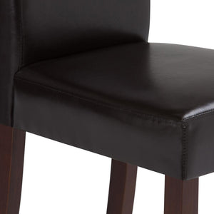 Acadian Faux Leather Parson Dining Chair (Set of 2)