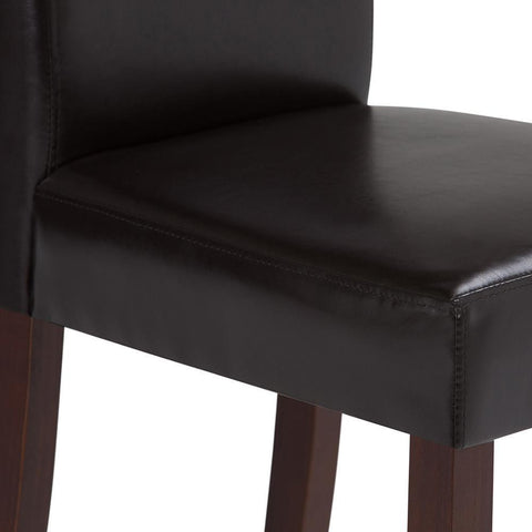 Tanners Brown PU Faux Leather | Acadian Faux Leather Parson Dining Chair (Set of 2)