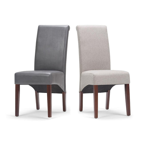 Stone Grey PU Faux Leather | Avalon Faux Leather Parson Dining Chair (Set of 2)