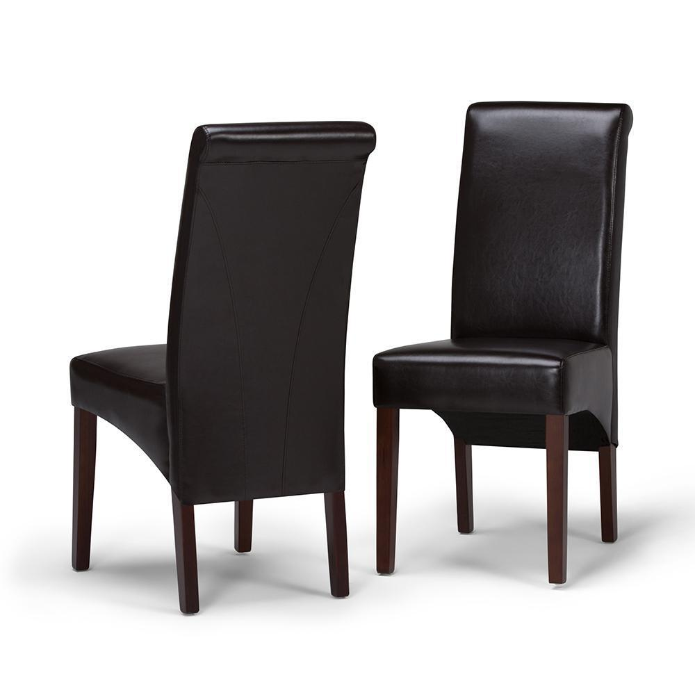 Avalon Faux Leather Parson Dining Chair (Set of 2)