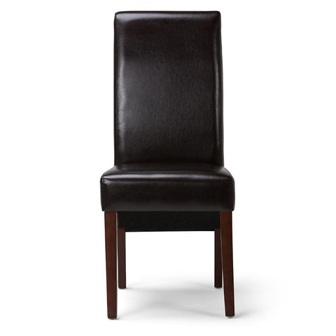 Tanners Brown PU Faux Leather | Avalon Faux Leather Parson Dining Chair (Set of 2)