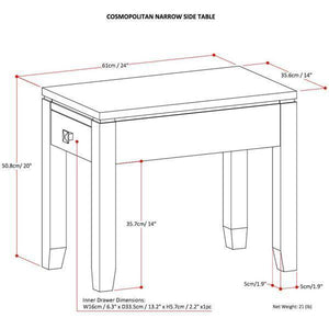 Cosmopolitan Narrow Side Table