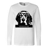 "SHIRTS-CAT AND DOG LOVERS ""KINDNESS MATTERS"" UNISEX LONG SLEEVE TEE- 6 colors-5 sizes"